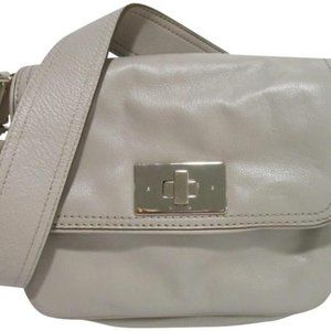*Kate Spade Pebbled Polka Dot Lined Taupe Leather